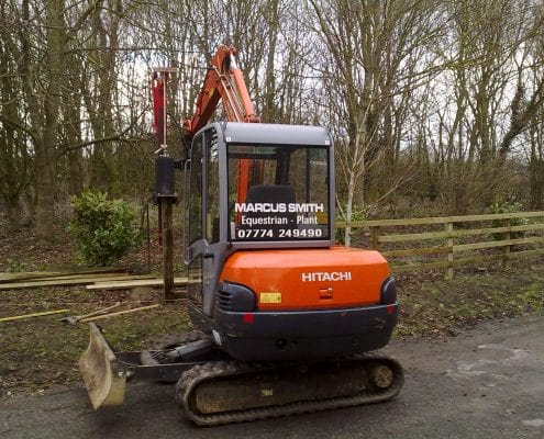 Machine sawn post and four rail fencing.